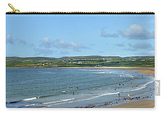 Carry-all Pouch featuring the photograph Lahinch Beach by Terence Davis