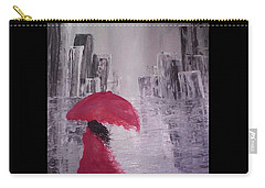 Carry-all Pouch featuring the painting Laidy In The City Abstract Art by Sheila Mcdonald