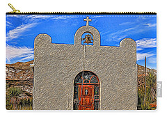 Lajitas Chapel Painted Carry-all Pouch by Judy Vincent