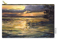 Carry-all Pouch featuring the painting Lake by Arturas Slapsys