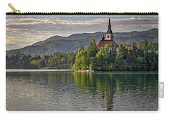 Carry-all Pouch featuring the photograph Lake Bled Morning #2 - Slovenia by Stuart Litoff