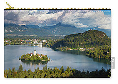 Carry-all Pouch featuring the photograph Lake Bled Pano by Brian Jannsen