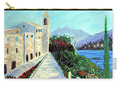 Carry-all Pouch featuring the painting Lake Como Colors  by Larry Cirigliano