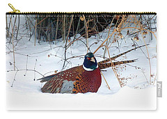 Carry-all Pouch featuring the photograph Lake Country Pheasant 2 by Will Borden