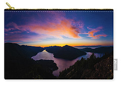 Lake Crescent Sunset Carry-all Pouch