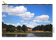 Lake Cuyamac Landscape And Clouds Carry-all Pouch by Matt Harang