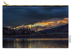 Lake Dillon Stormy Sunset Carry-all Pouch by Stephen Johnson