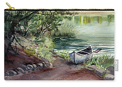 Carry-all Pouch featuring the painting Lake Dreams by Kris Parins