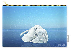 Lake Effects And The Trumpeter Swan Carry-all Pouch by Janette Boyd