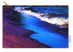 Carry-all Pouch featuring the photograph Lake Erie Shore Abstract by Shawna Rowe