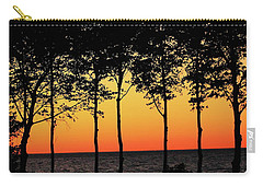 Carry-all Pouch featuring the photograph Lake Erie Silhouettes by Bruce Patrick Smith