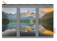 Lake Fusine In Triptych Carry-all Pouch