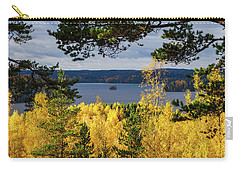 Lake Hiidenvesi Autumnscape 3 Carry-all Pouch