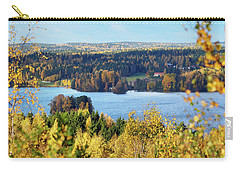 Lake Hiidenvesi Autumnscape Carry-all Pouch