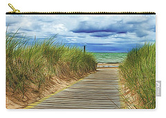 Carry-all Pouch featuring the photograph Lake Huron Boardwalk by Bill Gallagher
