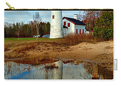 Lake Huron Lighthouse Carry-all Pouch by Michael Rucker