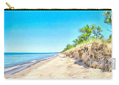 Lake Huron Shoreline Carry-all Pouch by Maciek Froncisz