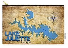 Lake Juliette Ga - Vintage Print Carry-all Pouch