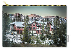 Lake Louise Lodge Carry-all Pouch by Bill Howard