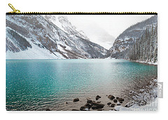Lake Louise Mountain Snow Forest Landscape Carry-all Pouch by Andrea Hazel Ihlefeld