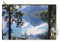 Lake Mcdlonald Through The Trees Glacier National Park Carry-all Pouch