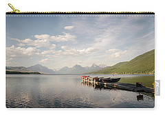 Carry-all Pouch featuring the photograph Lake Mcdonald by Margaret Pitcher