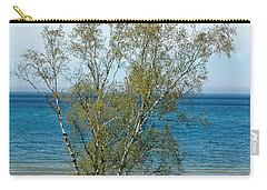Carry-all Pouch featuring the photograph Lake Michigan Birch Tree by LeeAnn McLaneGoetz McLaneGoetzStudioLLCcom