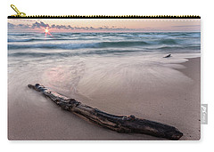 Carry-all Pouch featuring the photograph Lake Michigan Driftwood by Adam Romanowicz