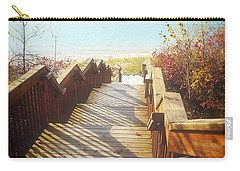Carry-all Pouch featuring the photograph Lake Michigan In The North by Michelle Calkins