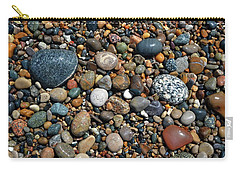 Carry-all Pouch featuring the photograph Lake Michigan Stone Collection by Michelle Calkins