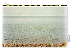 Carry-all Pouch featuring the photograph Lake Michigan With Stony Shore by Michelle Calkins