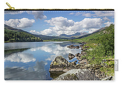 Carry-all Pouch featuring the photograph Lake Mymbyr And Snowdon by Ian Mitchell