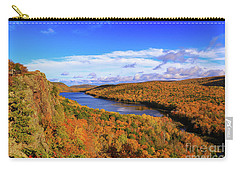 Lake Of The Clouds Fall Glory Carry-all Pouch by Rachel Cohen