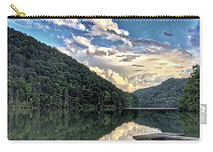 Carry-all Pouch featuring the photograph Lake Reflections by Kerri Farley