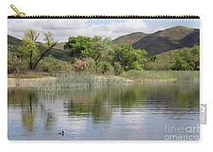 Lake Skinner In Spring Carry-all Pouch by Suzanne Oesterling