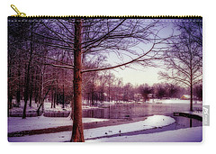 Lake Snow - Winter Landscape Carry-all Pouch by Barry Jones