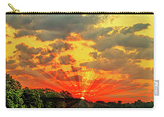 Lake Sunrise - Lakeside Landscape Carry-all Pouch by Barry Jones