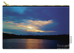Carry-all Pouch featuring the painting Lake Sunset by Debra Crank