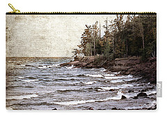 Carry-all Pouch featuring the photograph Lake Superior Waves by Phil Perkins