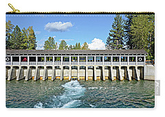 Carry-all Pouch featuring the photograph Lake Tahoe Dam by David Lawson