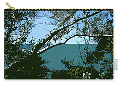 Lake Through The Trees Carry-all Pouch by Michelle Calkins