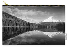 Carry-all Pouch featuring the photograph Lake Trillium In Black And White by Lynn Hopwood