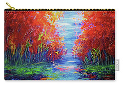 Olena Art Lake View Abstract Artwork Carry-all Pouch