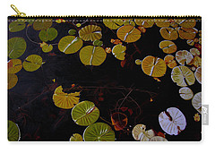 Carry-all Pouch featuring the painting Lake Washington Lilypad 8 by Thu Nguyen