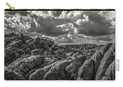 Carry-all Pouch featuring the photograph Lake Watson Granite Rocks Prescott Arizona Bnw 2482 by David Haskett