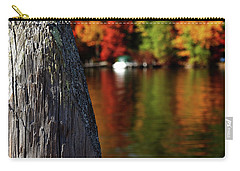 Lake Winnepesaukee Dock With Foliage In The Distance Carry-all Pouch