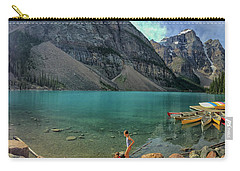 Lake With Kayaks Carry-all Pouch