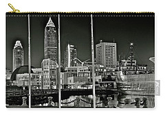 Carry-all Pouch featuring the photograph Lakefront Grayscale by Frozen in Time Fine Art Photography