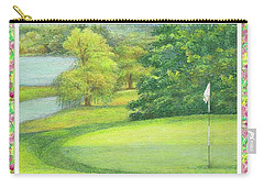 Lakeside Golfing Illustration Carry-all Pouch