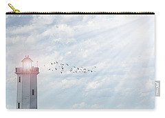 Carry-all Pouch featuring the photograph Lakeside Park Lighthouse by Joel Witmeyer
